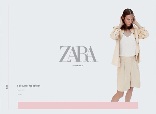 Free Zara Website Template PSD