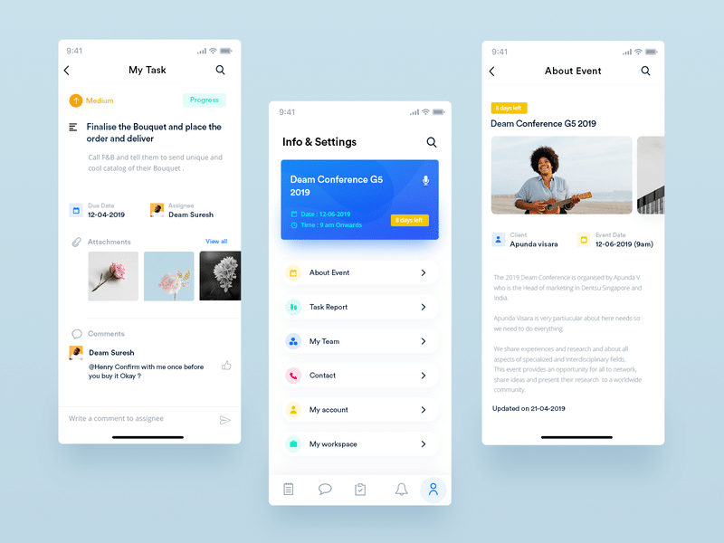 Event App UI Design Free
