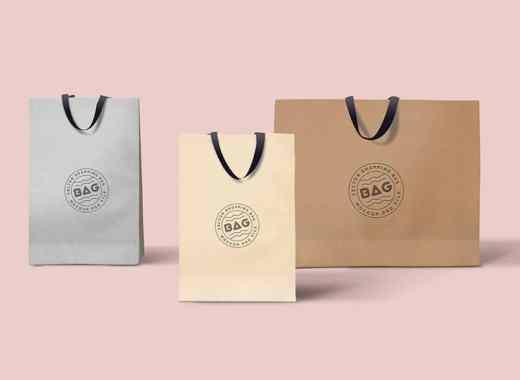 free shopping paper bag psd mockup