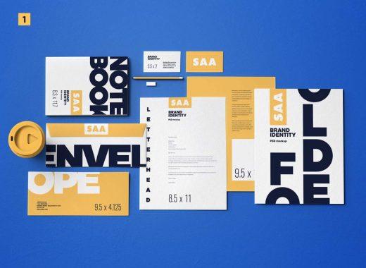 7 Free Identity branding mockups.