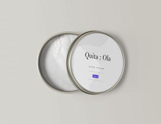 Hand Cream Jar Mockup