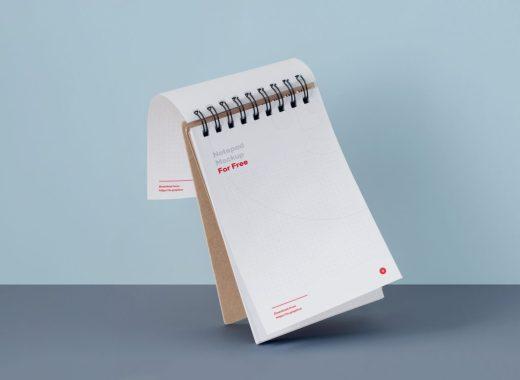 Free Notepad Mockup