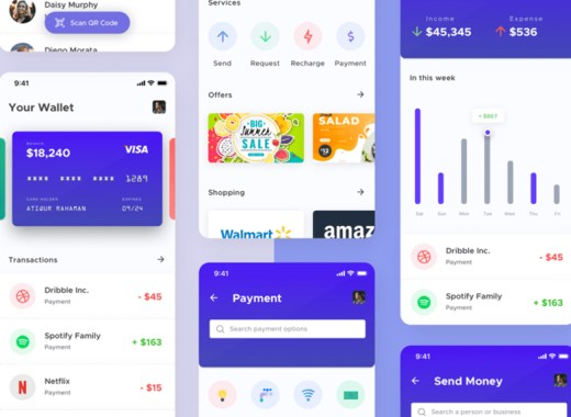 mobile-wallet-cryptocurrency-mobile-app Sketch file UI Mobile app kit