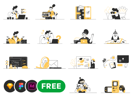 Free Customizable Vector Illustrations