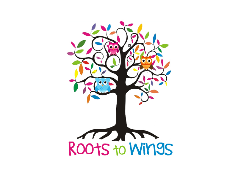 Roots to Wings Logo Design