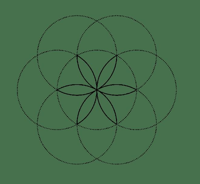 Six-petal rosette b