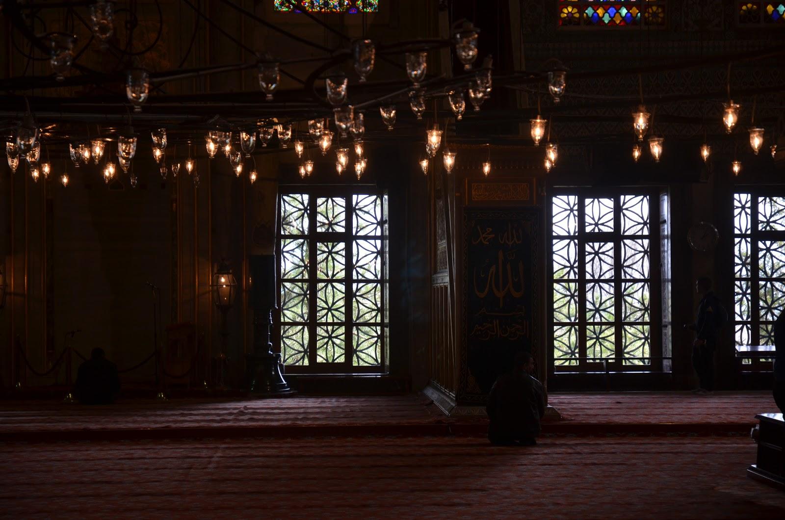 Blue Mosque window background
