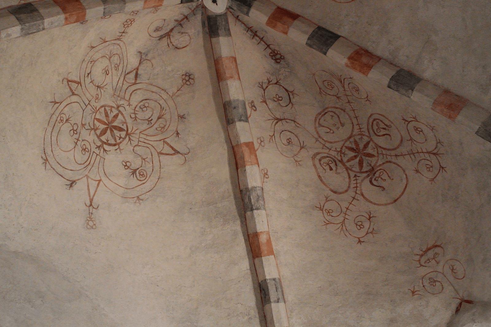 Floral motives in Porvoo Cathedral