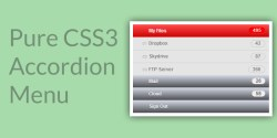 A Basic Tutorial on Building a Pure CSS3 Accordion Menu