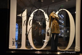 Luckily for me, it was the 100 year anniversary of British Vogue in England so fashion gurus, sales and displays where everywhere! Perfect time for me to be visiting I'd say!