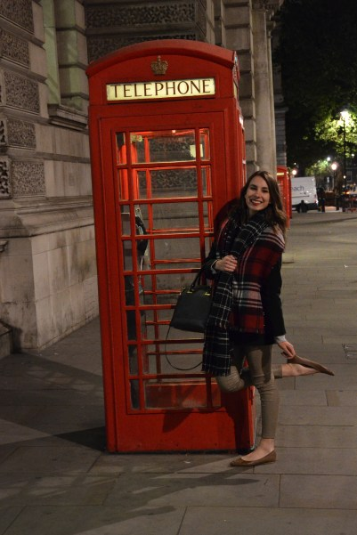 Can't leave London without a stereotypical phone booth photo