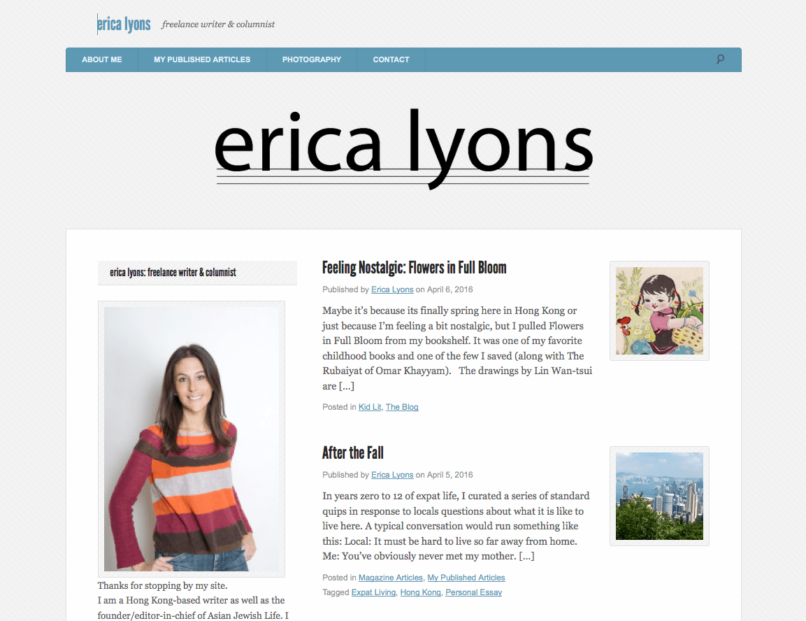 Erica Lyons - Freelance Writer and Journalist