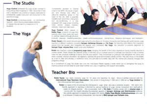 Yoga Central Brochure inside