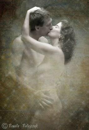 Fine art nude of a couple in love.
