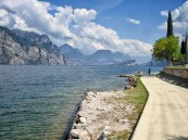 A view from the shore of Lake Garda, Italy.