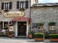 A restaurant in a little village of Spiazzi, in the Lake Garda area, Italy.