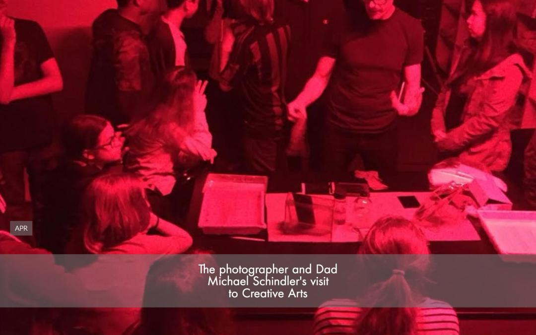 The photographer and Dad Michael Schindler visited Creative Arts charter school