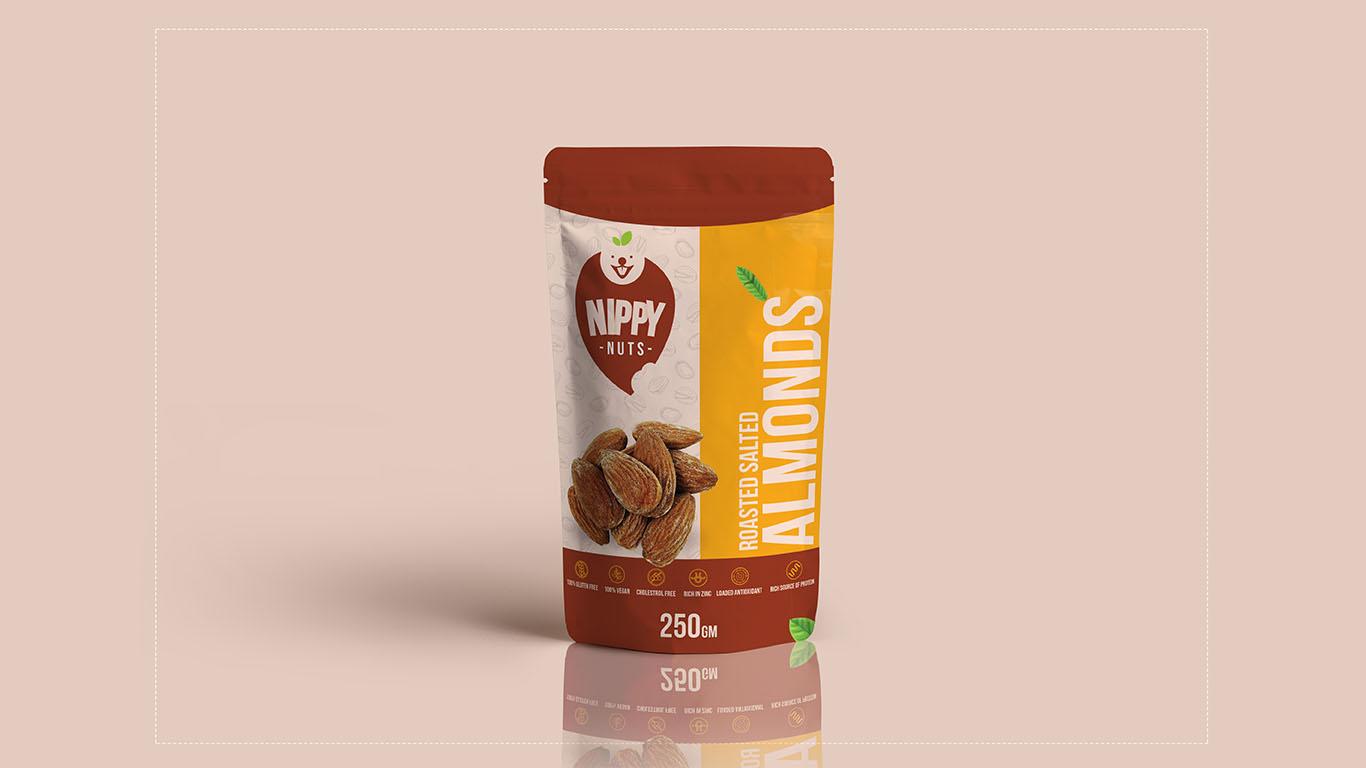 Nippy Nuts Roasted Almond Packaging Nuts