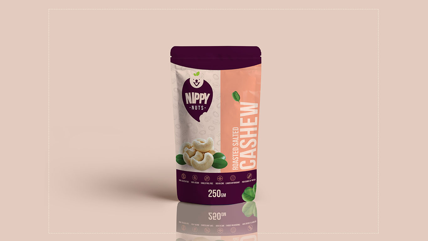 Dry Fruit Packaging Design Cashew