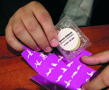 condom business card