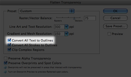 flatten transparency window