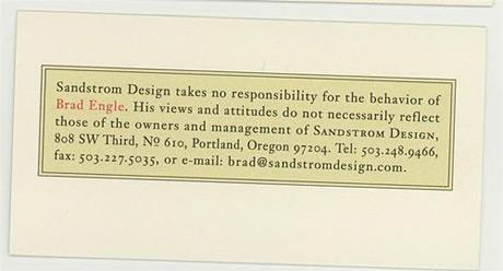 sandstorm  business card