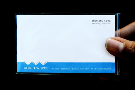 swimming instructor business card