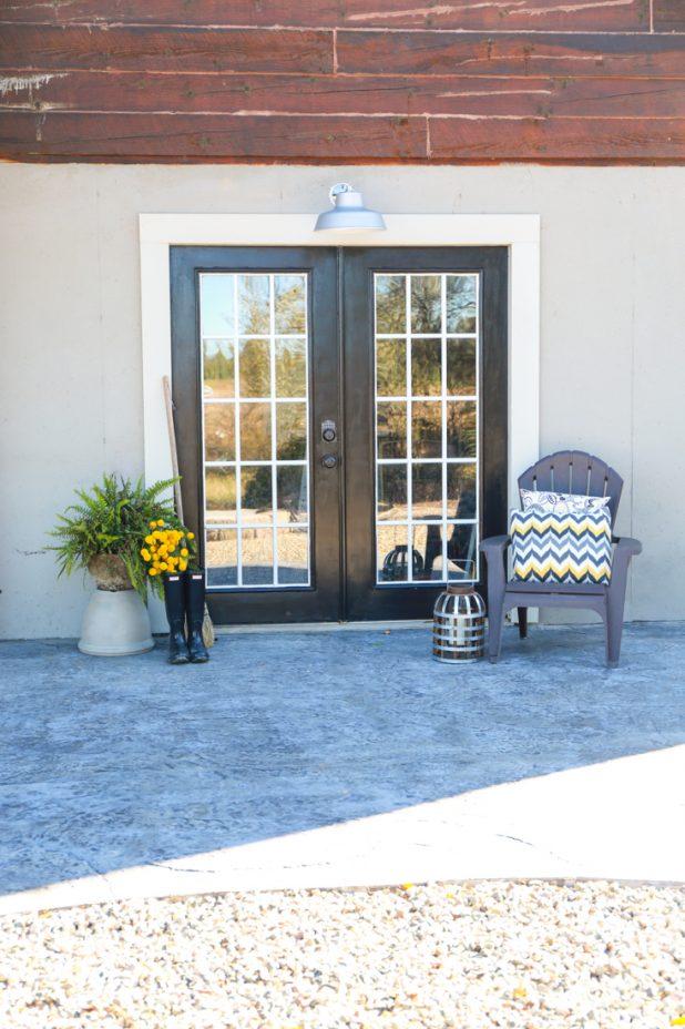 painted patio french door creative