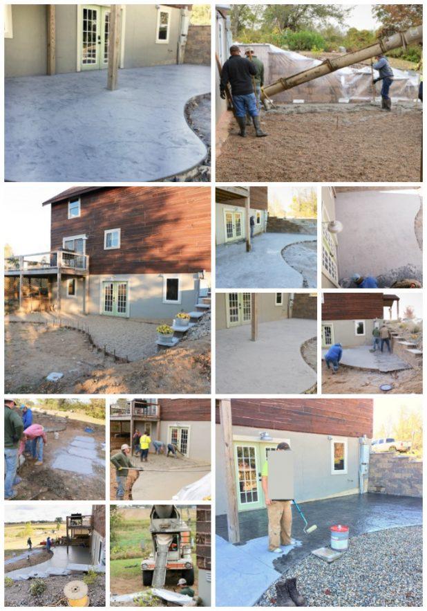 diy stamped concrete patio creative