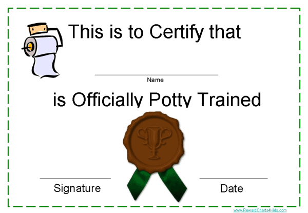 toilet training award