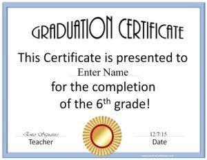 Free Custom Graduation Certificates For School Edit Online