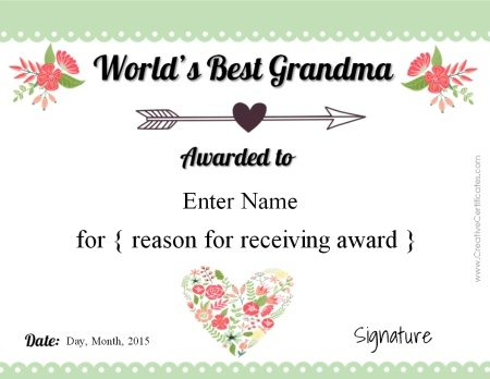award for grandma
