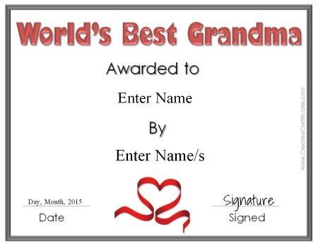 worlds best granny award