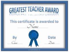 greatest teacher award
