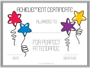 achievement certificate