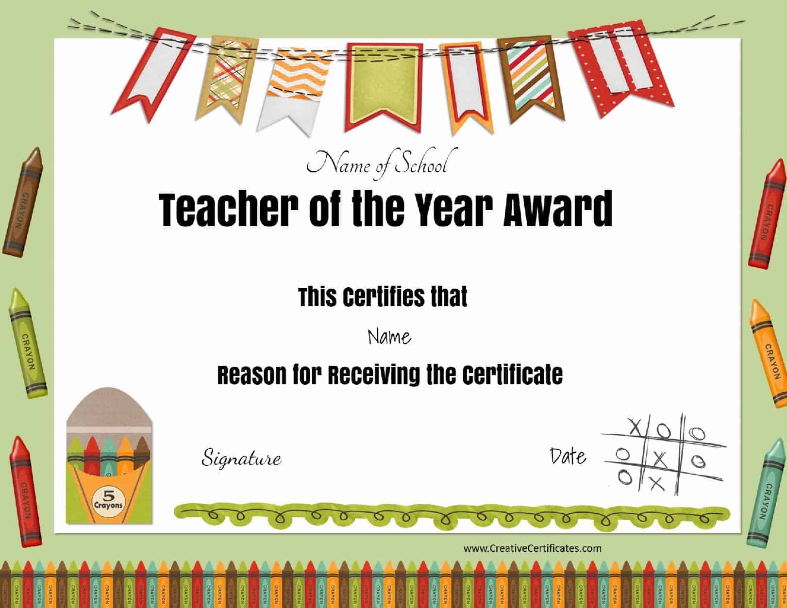 Free Certificate Of Appreciation For Teachers Customize Online