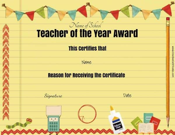Teacher awards