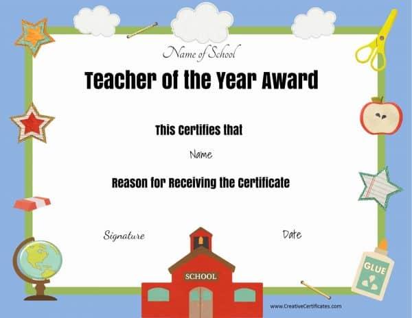 Teacher appreciation award