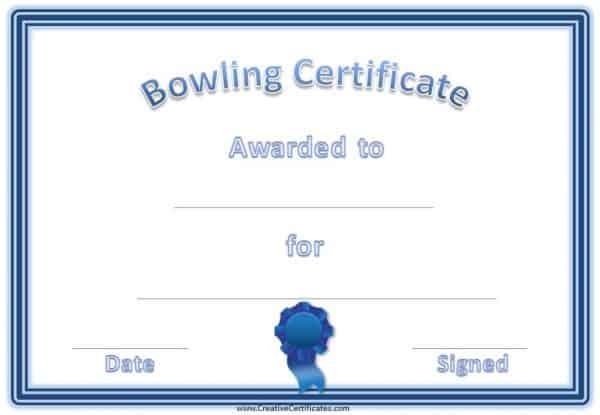 blue bowling award