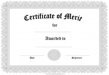 certificate of merit