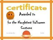 naughty Halloween costume award