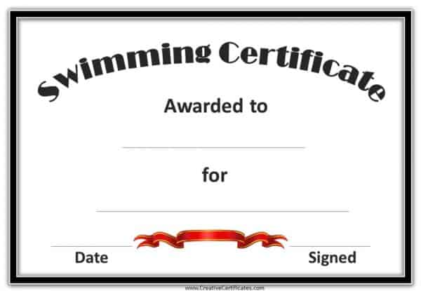 certificate with black border and red ribbon