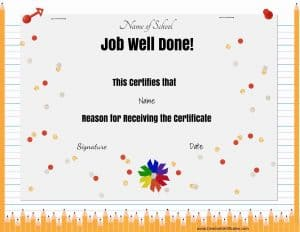 job well done