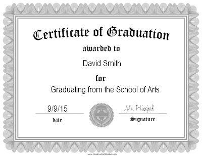 Free Graduation Certificate Templates Customize Online