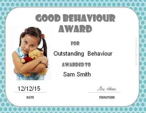 Good behaviour award