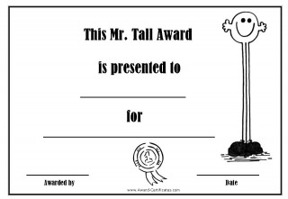 award for being vey tall