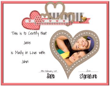 Valentines Photo card