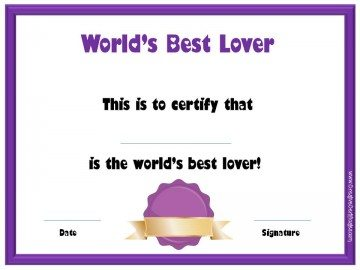 World's Best Lover