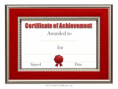 red border and red ribbon