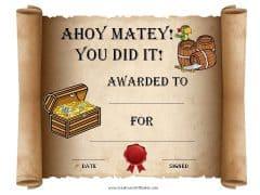 certificate award template